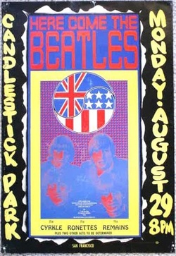 Conert poster:The Beattles by Wes Wilson, August, 1966